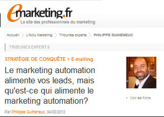 Le marketing automation alimente vos leads, mais qu'est-ce qui alimente le marketing automation?