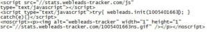 Un exemple de code tracking, cliquez pour agrandir