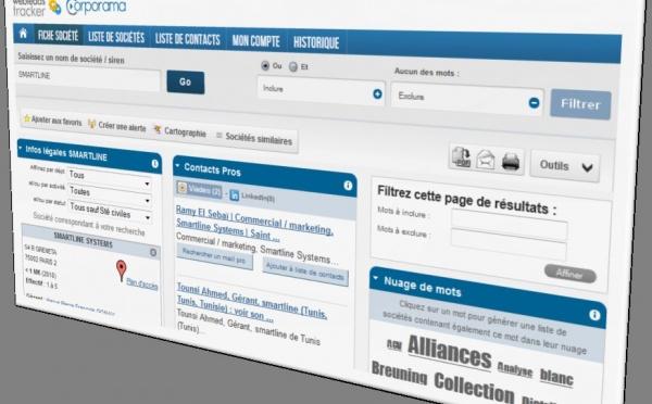 Recherchez de nouveaux prospects sur le portail Corporama