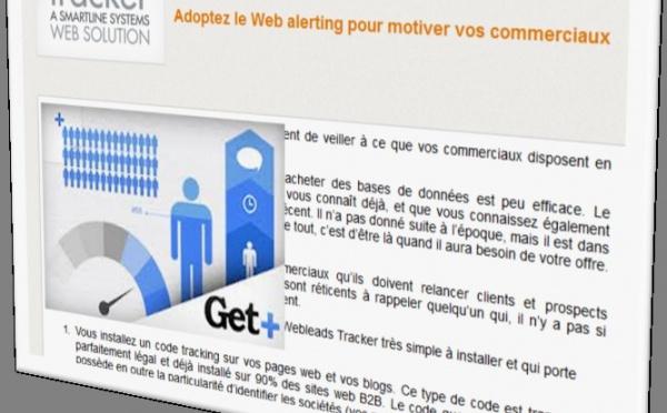 Adoptez le Web alerting pour motiver vos commerciaux