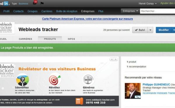 LinkedIn Product Page Variation et Web Tracking